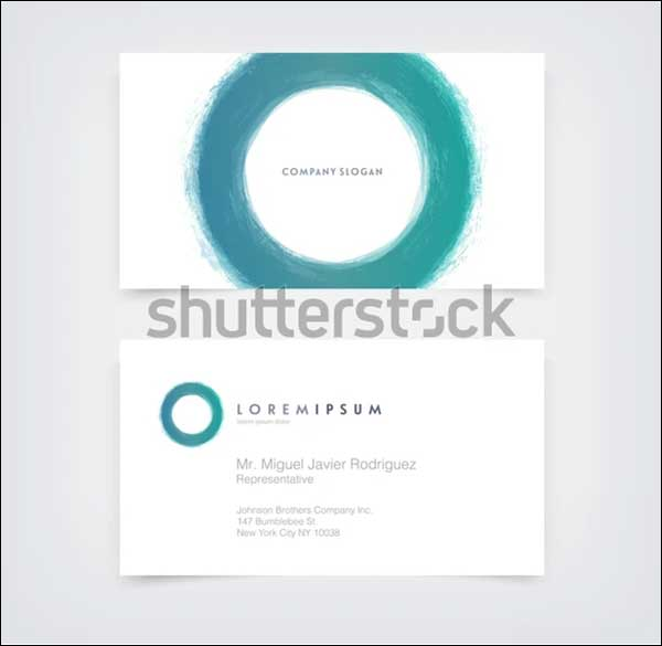 Abstract Circle Business Card Mockups