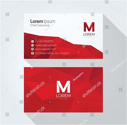 Abstract Polygonal Background Business Card Template