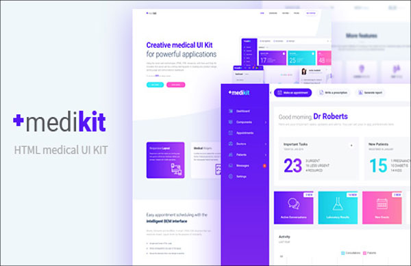 Administration Medikit - Medical UI HTML