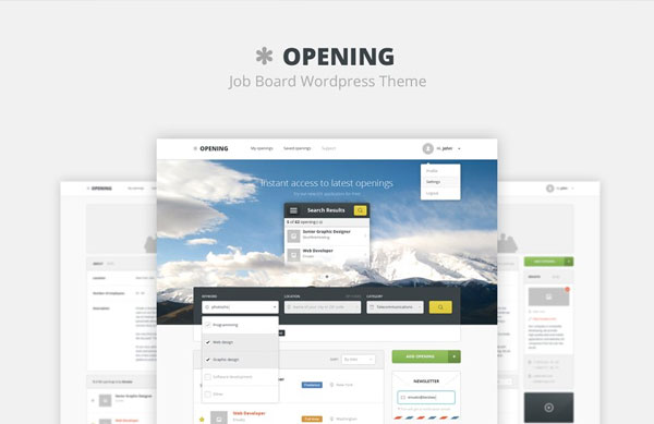 Adninistration Job Board Wordpress Theme