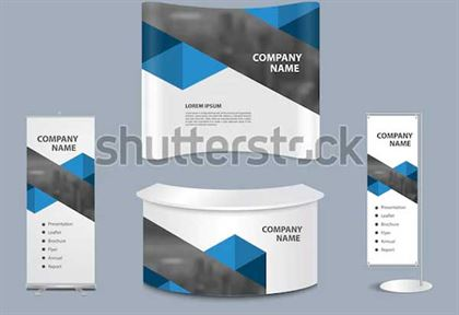 Advertising Exhibition Stand PSD Mockup
