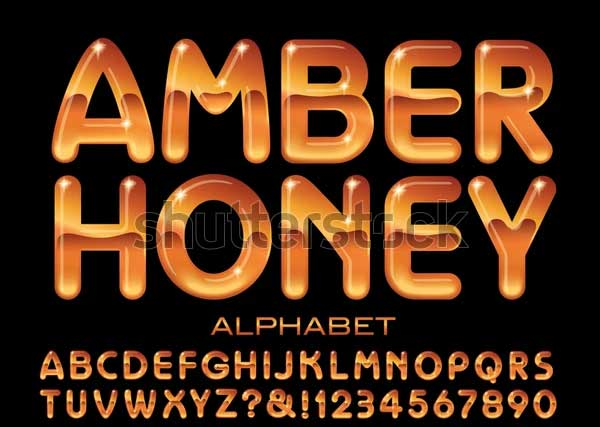 Amber Honey Alphabet Text Effects