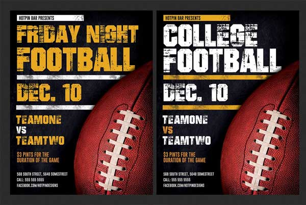 American PSD Football Flyer Template
