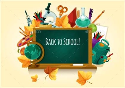 Back to School Chalkboard Poster Template
