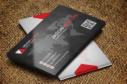 Beautiful Black Business Card