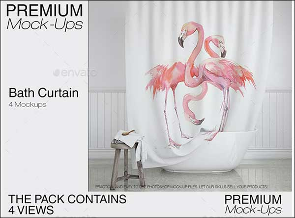 Best Bath Curtain Mockup