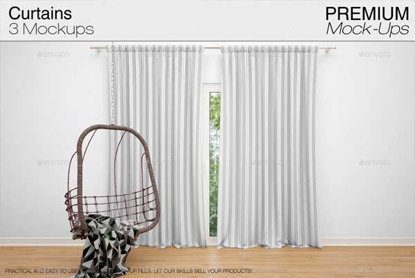 Best Curtains Mockup Pack