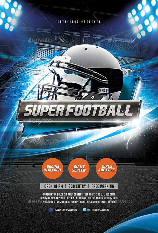 Best Super Football Flyer Template