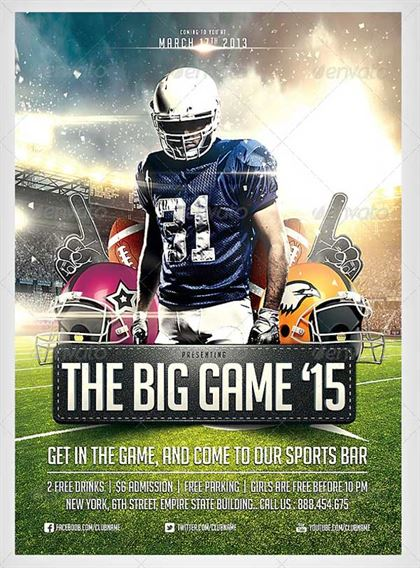 Big Game Football Flyer Template