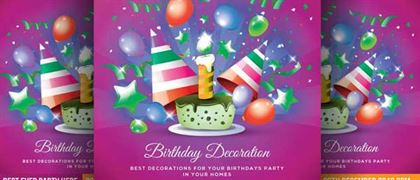 Birthday Event Flyer and Banner Template