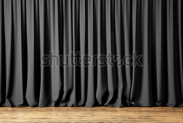 Black Curtain Mockup