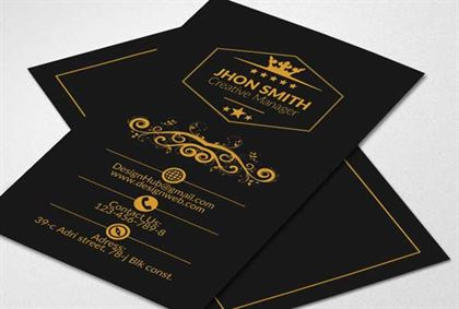 Black Creative Manager Business Card Design Template