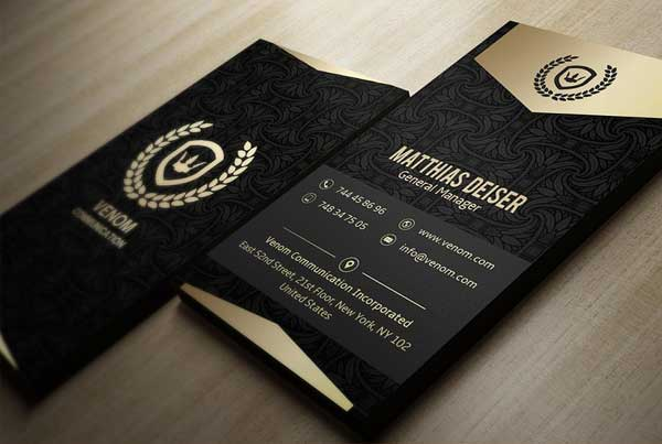 Black Printable Business Card Template