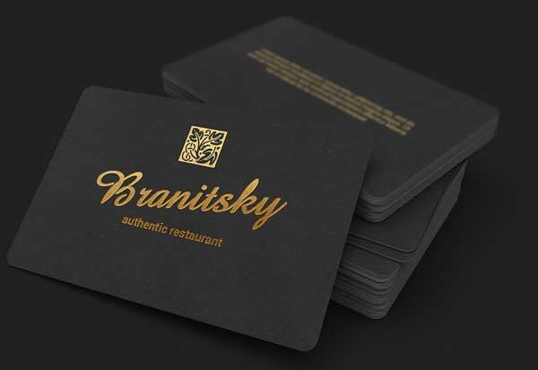 Black Restaurant Business Card Template