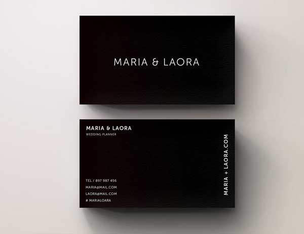 Black Wedding Planner Business Card Template