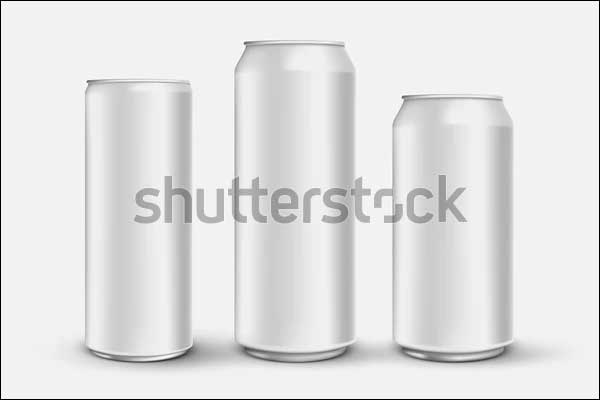 Blank Energy Drink Can Mockup