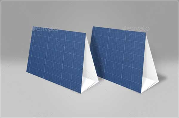 Blank Table Tent Mock-Up