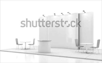 Blank Creative Exhibition Stand Trade Show Mockup