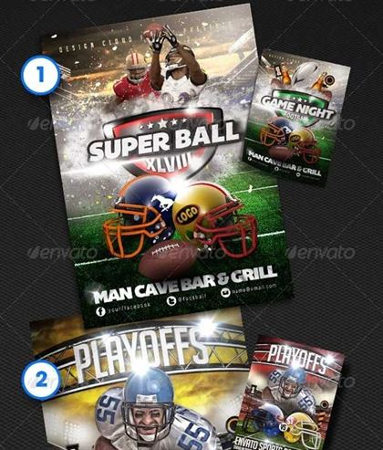 Bundle Football Flyer Template