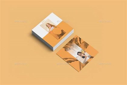 Business Card Mockup Square
