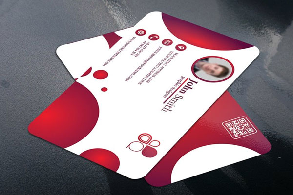 Business Card with Circle touch Mockup