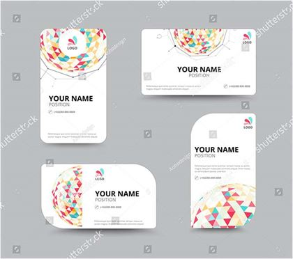 Business Geometry Low Polygon Business Card