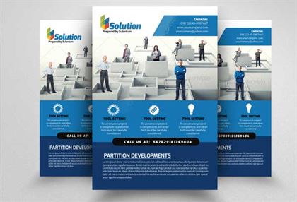 Business Problem Solution Flyers