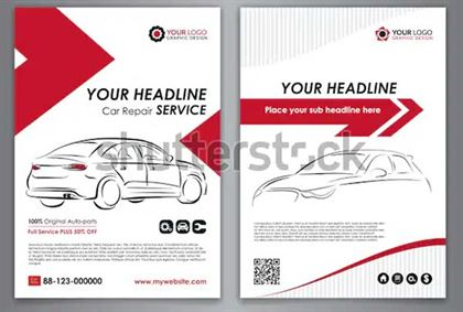 Car Service Business Layout Templates
