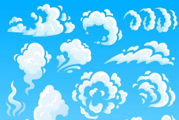 Cartoon Clouds And Smoke Actions