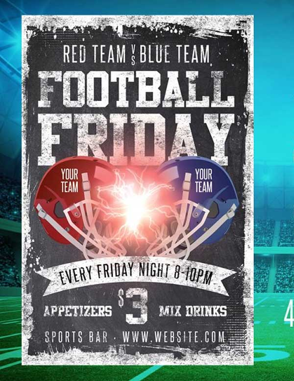 Chalk Football Friday Flyer