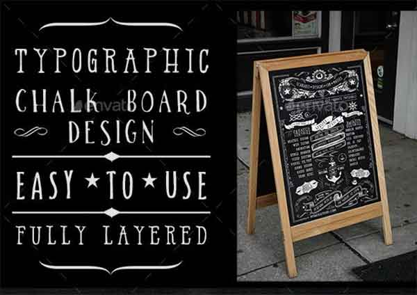 Chalkboard Typography Poster Template