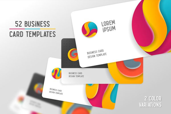 Circle Alphabet & Business Cards Mockup