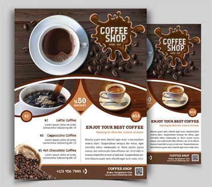 Cafe flyer psd free