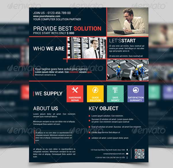 Computer Solution Flyer Template