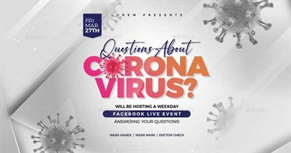 Coronavirus Live Event Flyer and Banner Template