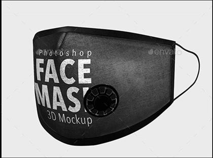 Cotton Mouth Face Mask Mockup