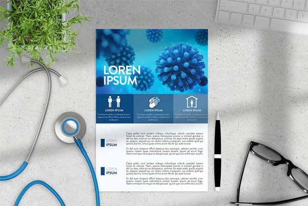 Covid Flyer Layout Template