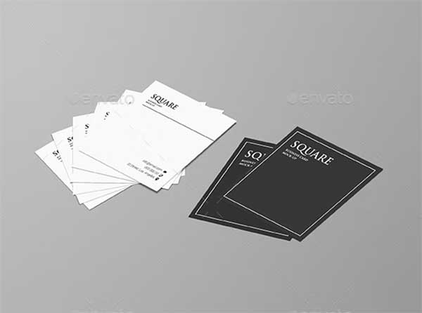 Creative Square Business Card Mock-up