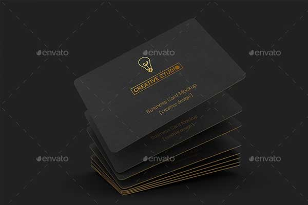 Creative Studio Black Business Card PSD Template
