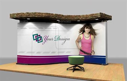Customizable Trade Show Booth Mockup Template
