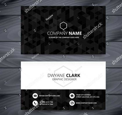 Dark Business Card Design Template