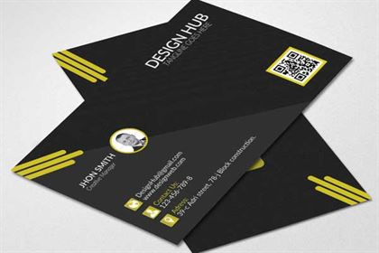 Design Hub Black Business Card