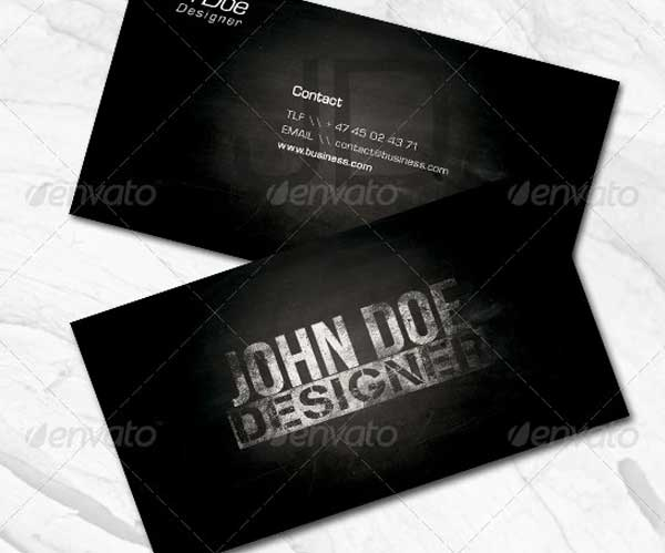 Designer Black Business Card Template