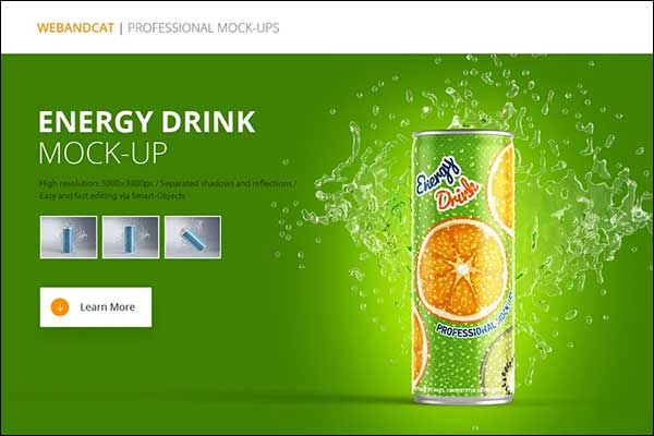 Download Energy Drink Can Mockup