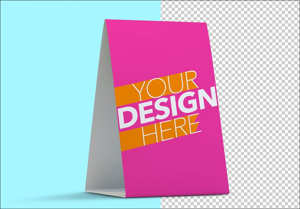 Download Table Tent Mockup