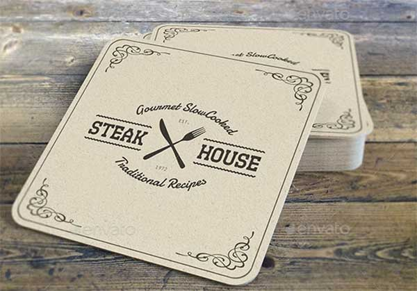 Drink Coaster Mock-Up Template
