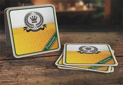Drink Coaster Mock-Up Templates