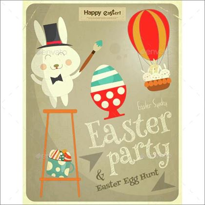 Easter Card Design Template