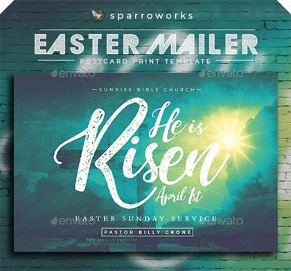 Easter Mailer Postcard Print Template