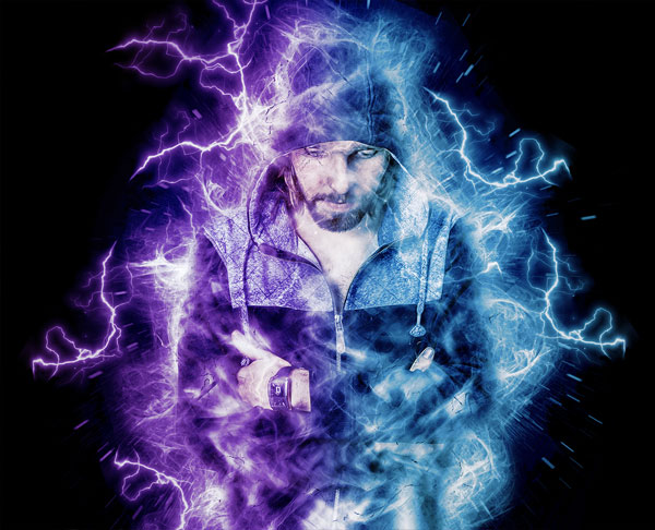Editable Electrical Power Photoshop Action